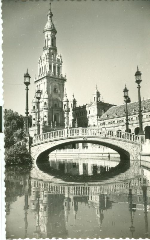 Spain, Sevilla, Plaza de Espana, unused Postcard