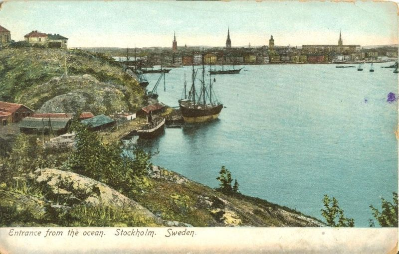 Sweden, Entrance from the Ocean, Stockholm, early 1900s unused Postcard
