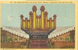 The Tabernacle Choir and Organ, Salt Lake City, Utah 1938 unused linen Postcard - $4.99