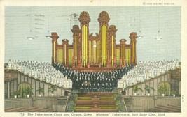 The Tabernacle Choir and Organ, Salt Lake City, Utah 1939 used Postcard  - $4.50