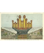 The Tabernacle Choir and Organ, Salt Lake City, Utah 1939 used Postcard  - $4.50