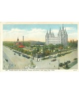 Temple Block and Brigham Young Monument, Salt Lake City, Utah 1910s-1920s  - $4.99
