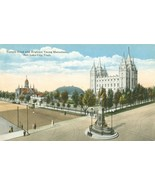 Temple Block and Brigham Young Monument, Salt Lake City, Utah early 1900s - $4.99