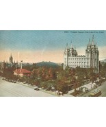 Temple Square, Salt Lake City, Utah, early 1900s unused Postcard  - $4.99