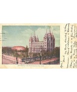 Temple and Tabernacle, Salt Lake City, Utah 1906 used Postcard  - $4.99
