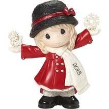 "Precious Moments""Have A Magical Holiday Season Dated 2018 Girl Figurine,... - $39.68"