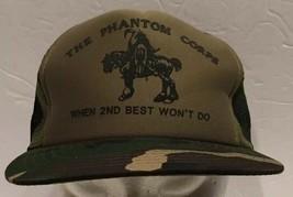 Vintage Phantom Corps Camo Mesh Snapback Trucker Hat Cap Warrior Camouflage - $28.04