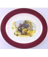 """Vintage Homer Laughlin Cavalier 15"""" Thanksgiving Turkey Platter with Mar... - $21.99"""