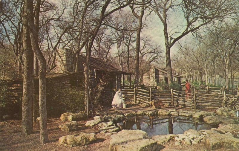 Texas Log Cabin Village, Forest Park, Fort Worth, Texas unused Postcard