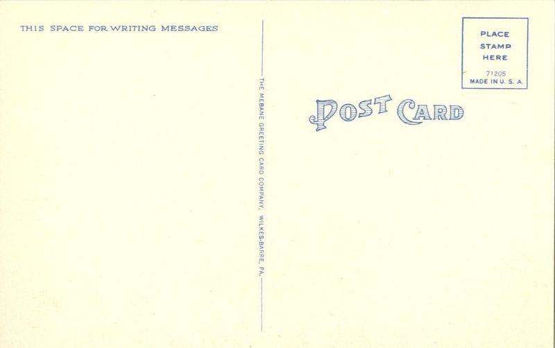 U.S. Post Office, Williamsport, Pennsylvania unused linen Postcard