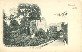 UK Warwick Castle, In the Grounds, early 1900s unused Postcard  - $4.50