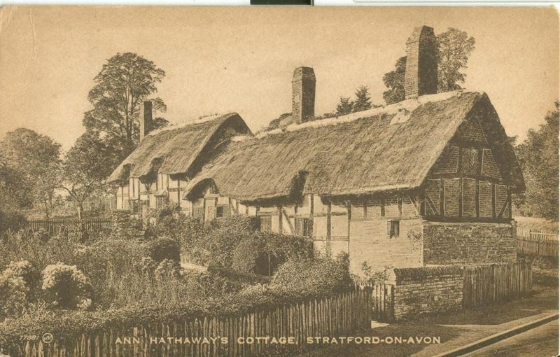 United Kingdom, Ann Hathaway's Cottage, Stratford-on-Avon, early 1900s postcard
