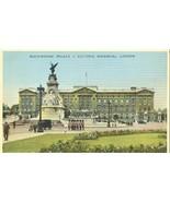 United Kingdom, Buckingham Palace & Victoria Memorial, London, 1930s use... - $4.77
