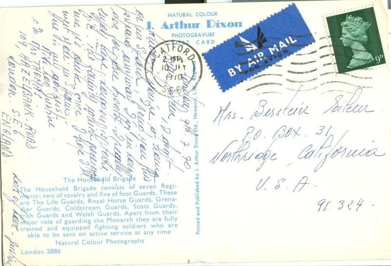 United Kingdom, The Household Brigade 1970s used Postcard