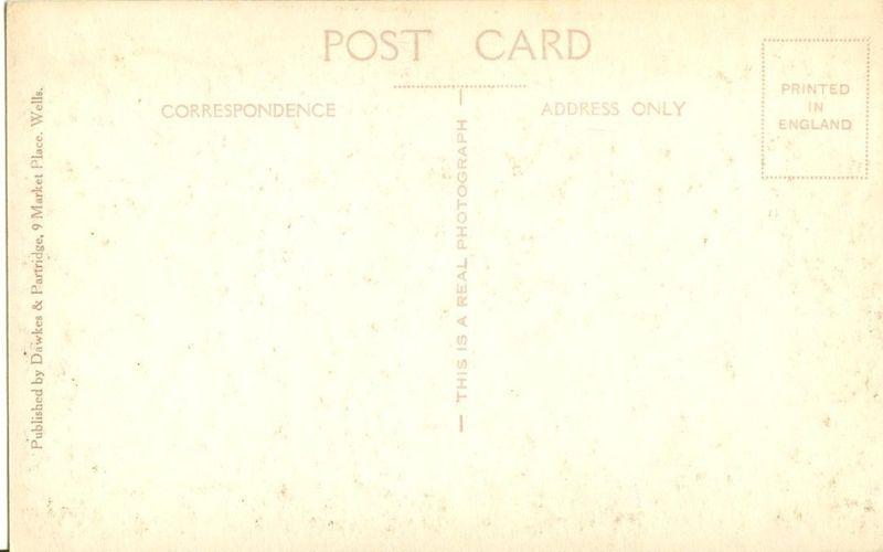 United Kingdom, Nave looking west, Wells Cathedral unused Real Photo Postcard