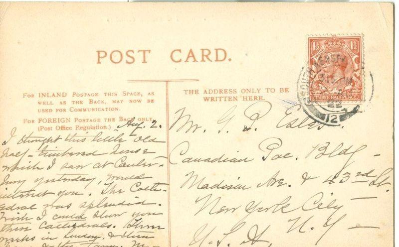 United Kingdom, St. John's Hospital, Canterbury, 1922 used Postcard