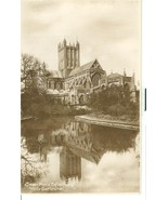 United Kingdom, Swan Pool & Reflection of Wells Cathedral unused Real Ph... - $4.99