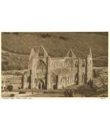 United Kingdom, Tintern Abbey from Chapel Hill, 1920s used Postcard  - $3.99