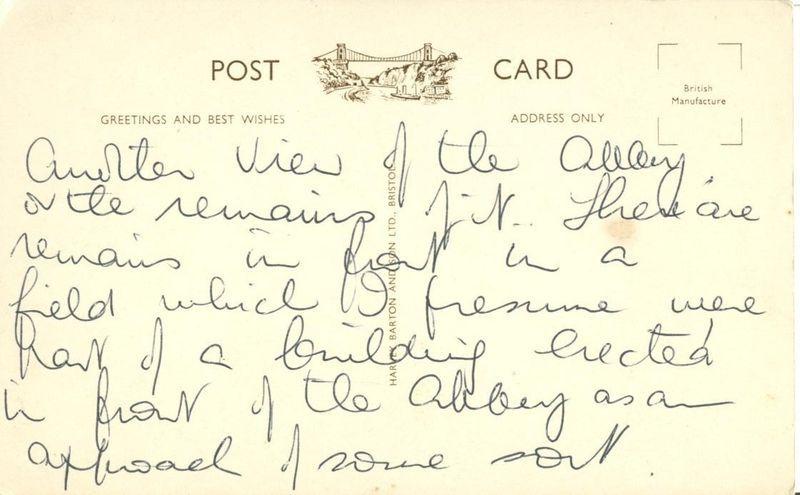 United Kingdom, Tintern Abbey from Chapel Hill, 1920s used Postcard
