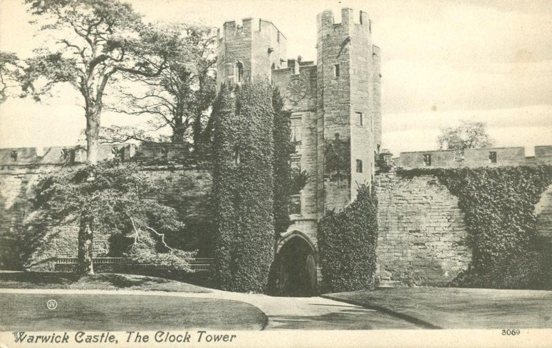 United Kingdom, Warwick Castle, The Clock Tower, early 1900s unused Postcard