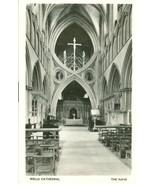 United Kingdom, Wells Cathedral, The Nave, Real Photo, RPPC unused Postc... - $4.99