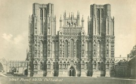 United Kingdom, West Front, Wells Cathedral early 1900s unused Postcard  - $3.99