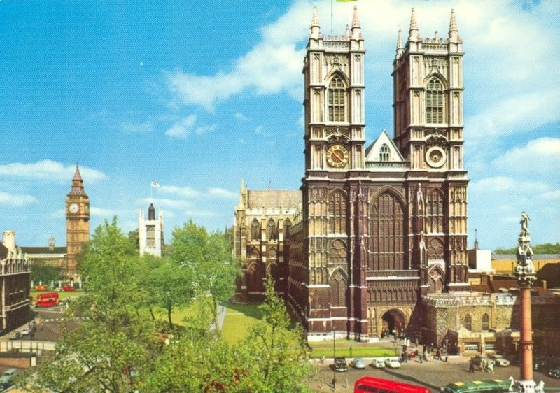 United Kingdom, Westminster Abbey, London 1960s unused Postcard