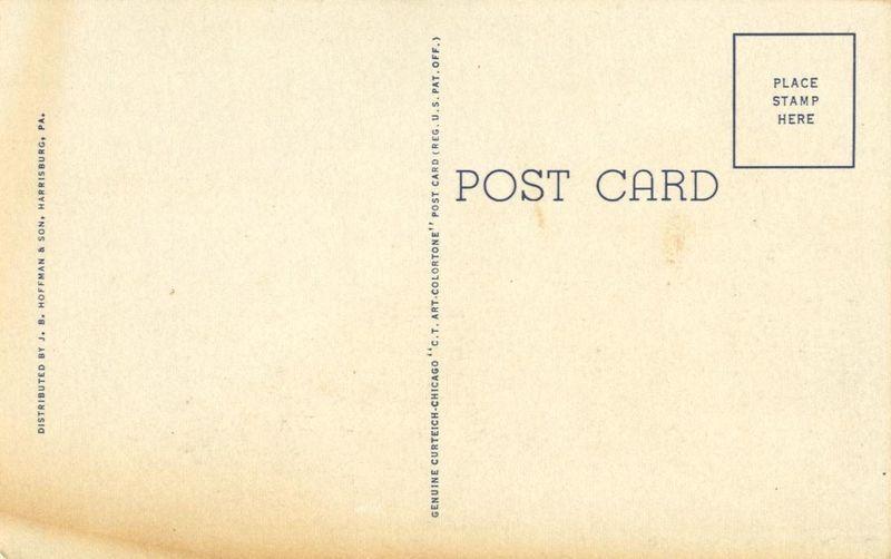 View along Riverfront Park, Harrisburg, Pa, unused linen Postcard