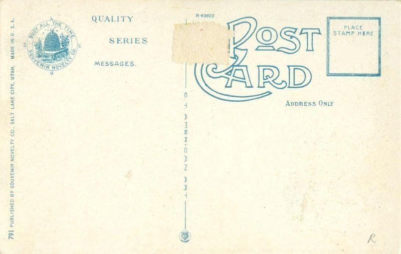 Walls of Jericho, Cedar Breaks , Southern Utah, 1920s unused Postcard