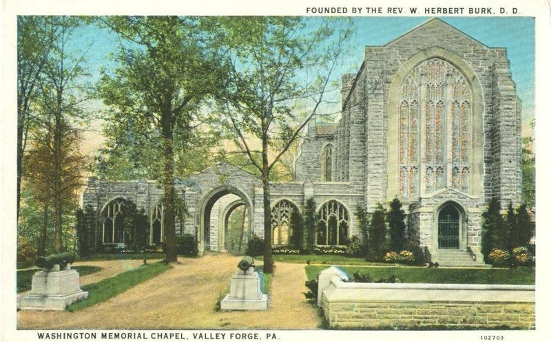 Washington Memorial Chapel, Valley Forge, Pa 1931 used Postcard