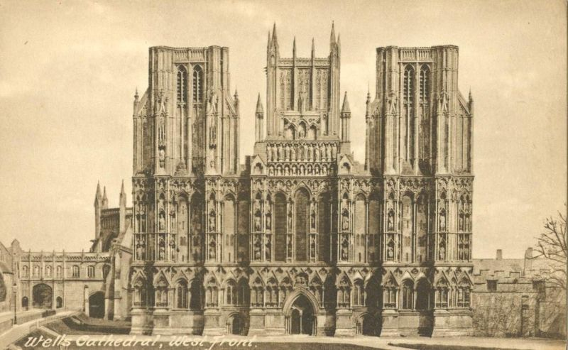 Wells Cathedral, West Front, early 1900s unused Postcard