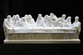 Last Supper Jesus Apostles Catholic Statue Sculpture Made in Italy - $69.95