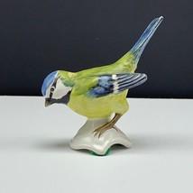Goebel bird figurine W Germany statue sculpture hummel cv34 blue titmous... - $39.55