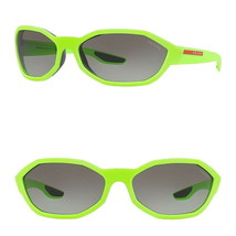 Prada Irregular Sport Sunglasses Matte Green Shield COLOR POP 67-135-117... - $109.65