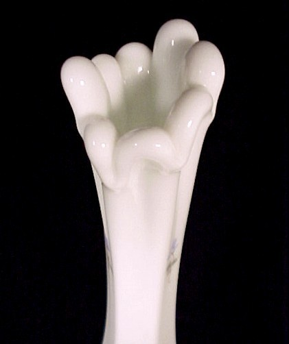 Westmoreland Milk Glass Roses & Bows Footed Bud Vase
