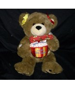 BUILD A BEAR HAPPY BIRTHDAY TEDDY W/ CUPCAKE & BOW STUFFED ANIMAL PLUSH ... - $22.21