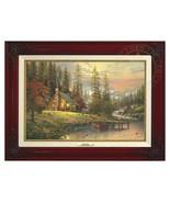 Thomas Kinkade - A Peaceful Retreat – Canvas Classic (Brandy Frame) - $377.85