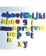 34 Vintage Magnetic Alphabet Letters Upper Case Lower Case Mix Kids Lear... - $15.83