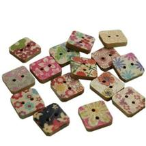 PANDA SUPERSTORE Set of 75 Beautiful Creative Lovely Unique Painting Square Wood