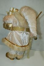 Sterling Brand Large Luxurious Ivory Santa Figurine Holding Gold Color Staff image 5