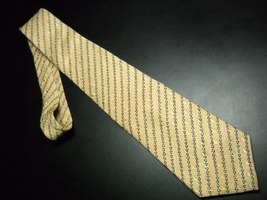 Greg Norman Collection Neck Tie Soft and Light Golds with Shark Accent Stripes - $11.99