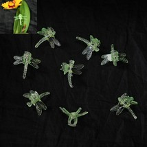 (25 Pack) Green Plastic Dragonfly Clips by Sophie's Orchids - $18.25