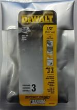 """Dewalt DD5132B3 1/2"""" Titanium Hex-Shank Drill Bits Impact-Ready Pilot Po... - $28.71"""