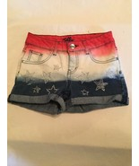 4th of July Size 10R Justice shorts jean patriotic sequin stars red whit... - $14.99