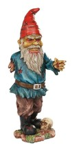 """Walking Dead Standing Zombie Gnome With Severed Hand Garden Statue 11.5""""... - $37.99"""