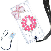 Bling Pink butterfly w flower Crystal Hard case for ipod Nano 7th Gen 7G... - $8.81