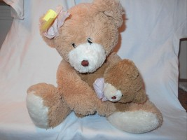 "Ty Classic Silk Large Cradles Bear with Baby 17"" Stuffed Animal Toy - £17.40 GBP"