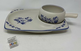 """Pfaltzgraff """"Yorktowne"""" Snack Set with 11"""" Tray and Stick Handle Soup Bowl !! - $27.99"""