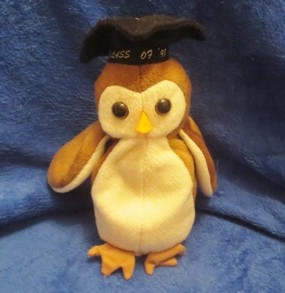 Ty Beanie Baby Wise the Graduation Owl NO TAG