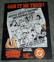 1984 JSA comic poster: Superman/Wonder Woman/Spectre/Green Lantern/Hawkman/Flash - $49.99